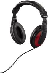hama 93031 over ear stereo headphones hk 3031 black red photo