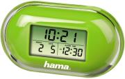 hama 104912 fashion mini travelling alarm clock green photo