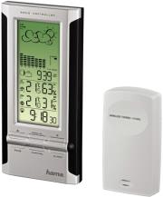 hama 104932 ews 380 electronic weather station black silver photo