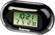 hama 104914 hama fashion mini travelling alarm clock black photo
