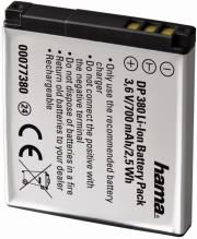 hama 77380 li ion battery dp380 for canon nb 8l photo