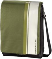 hama 101384 aha hyde messenger bag for all popular netbooks 121 and tablet pcs green white photo