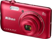 nikon coolpix a300 red photo