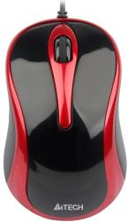 a4tech a4 n 350 2 v track padless mouse black red photo