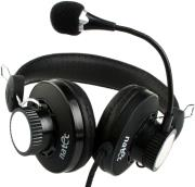 natec nsl 0256 griffon headphones microphone black photo