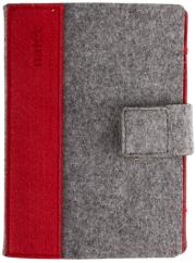 natec net 0672 sheep 6 kindle case cover grey red photo