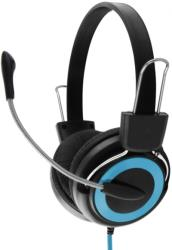 esperanza eh152b stereo headphones with microphone falcon blue photo