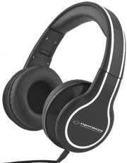 esperanza eh136k stereo audio headphones blues black photo