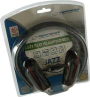 esperanza eh137k stereo audio headphones jazz black photo