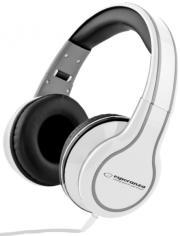 esperanza eh136w stereo audio headphones blues white photo
