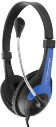 esperanza eh158b stereo headphones with microphone rooster blue photo