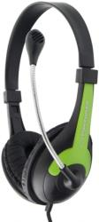 esperanza eh158g stereo headphones with microphone rooster green photo