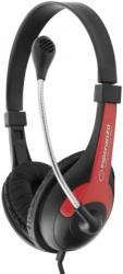 esperanza eh158r stereo headphones with microphone rooster red photo