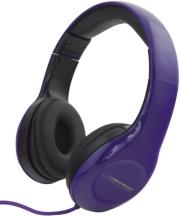 esperanza eh138v stereo audio headphones soul violet photo