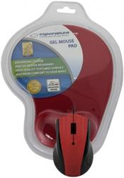 esperanza em125r optical mouse with gel mouse pad red photo
