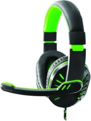 esperanza egh330g crow headphones with microphone for players green photo