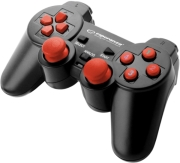 esperanza egg102r gamepad pc usb warrior black red photo