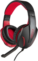 NOD G-HDS-001 GAMING HEADSET WITH ADJUSTABLE MICROPHONE AND RED LED υπολογιστές   ηχεία   μικρόφωνα