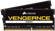 ram corsair cmsx16gx4m2a2400c16 vengeance black 16gb 2x8gb so dimm ddr4 2400mhz dual kit photo