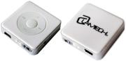 lamtech lam050530 mp3 player 8gb with fm radio white photo