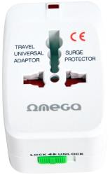 omega otra1 universal power travel adapter 4 in 1 220 250v reymatos photo