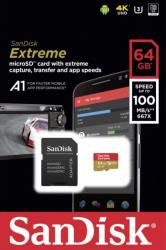sandisk sdsqxaf 064g gn6ma extreme a1 v30 64gb micro sdxc uhs i u3 with adapter photo