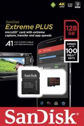 sandisk sdsqxbg 128g gn6ma extreme plus a1 128gb micro sdxc uhs i u3 with adapter photo