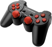 ESPERANZA EGG106R CORSAIR VIBRATION GAMEPAD FOR PC / PS2 / PS3 BLACK/RED ηλεκτρονικά παιχνίδια   pc accessories
