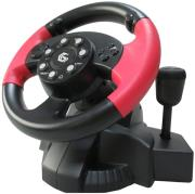 gembird str mv 02 vibrating racing wheel pc ps3 photo