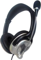 gembird mhs 401 stereo headphones with microphone and volume control black silver photo