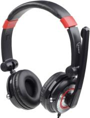 gembird mhs 51 001 51 surround usb headset with microphone black red photo