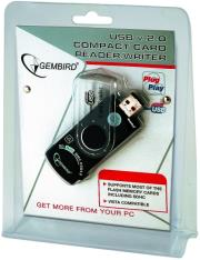 gembird fd2 allin1 c1 compact usb card reader writer photo