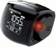 thomson cp280 alarm clock radio with projector black photo