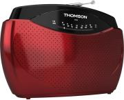 thomson rt223 portable radio fm mw red photo
