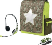 trust combat 120 netbook schoolbag messenger with mouse and headset photo
