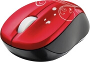 trust 17355 vivy wireless mini mouse red swirls photo