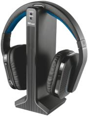 trust 20071 wireless headphone for tv with high quality digital audio and charging stand photo