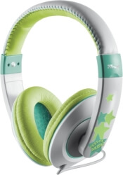 trust 19558 sonin kids headphone grey green photo