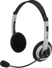 trust 15480 comfortfit headset black grey photo