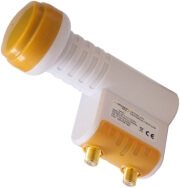 inverto lnb twin black premium photo