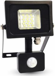 v tac 5723 10w led sensor floodlight black grey body smd 3000k photo