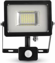 v tac 5715 20w led sensor floodlight black grey body smd 6000k photo