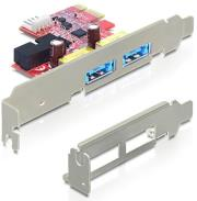 delock 89288 2 x multiport usb 30 esatap pci express card photo