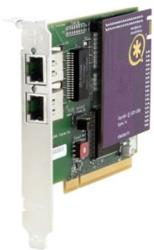 digium wildcard te212p dual span t1 e1 pci card 33v with octasic echo cancel module photo