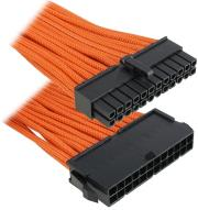 bitfenix 24 pin atx extension 30cm sleeved orange black photo