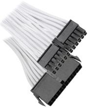 bitfenix 24 pin atx extension 30cm sleeved white black photo