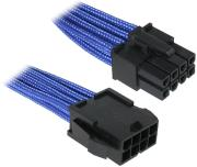 bitfenix 8 pin eps12v extension 45cm sleeved blue black photo