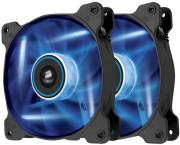 corsair air series af120 led blue quiet edition high airflow 120mm fan twin pack photo