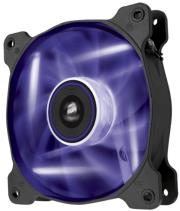 corsair air series af120 led purple quiet edition high airflow 120mm fan twin pack photo