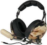 arctic p533 military over ear gaming headphones with boom microphone photo